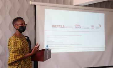 Brenda presenting at the Kenya National TB, Leprosy and Lung disease program annual report writing workshop