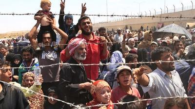 Syrian Displaced Populations on Turkey border