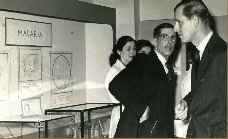 HRH Prince Philip during a visit to LSTM in 1954