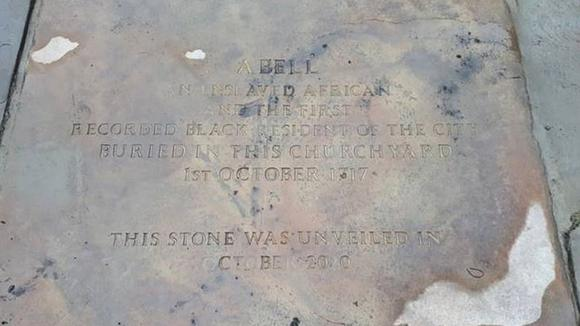 The stone marks the life of a man, known only as Abell, who died in 1717, the first recorded black resident in Liverpool