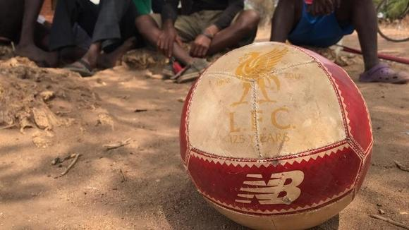 Image of a LFC football used in the project in Africa